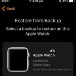 restore apple watch from backup