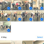 selecting multiple iphone photos