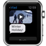self sent video from iPhone to Apple Watch