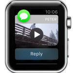 video available for playback on Apple Watch