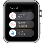 apple watch power off screen