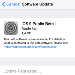ios 9 public beta 1 iphone software update