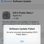 ios 9  software update failed error