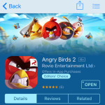 angry birds 2 app store listing