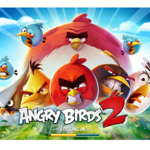 angry birds 2 log-in screen