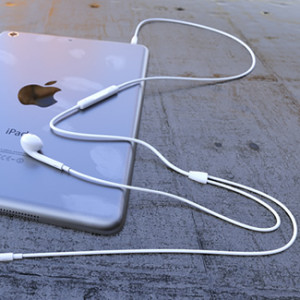 apple earpods connected to iphone