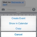 Create iOS Calendar Events From iPhone Messages