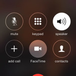 facetime video button on iphone ongoing call screen