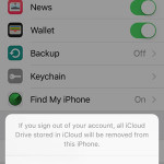 icloud id sign out prompt
