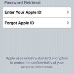 iforgot apple id password retrieval screen