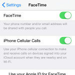 iPhone FaceTime settings