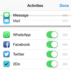 ios share extensions settings menu