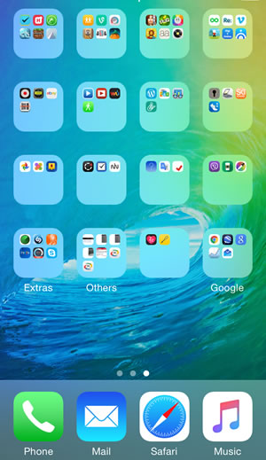 how to make app folders on iphone