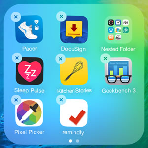nested iphone home screen app folder