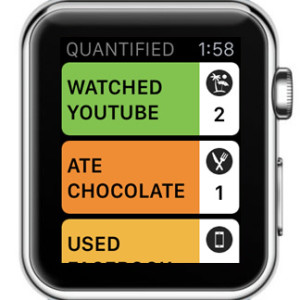 quantified apple watch home screen