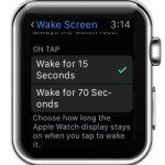 watchos 2 wake screen for 70 seconds feature