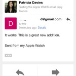 apple watch email reply demo