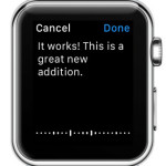 dictating Apple Watch email reply