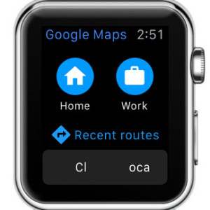 google maps apple watch home screen