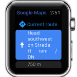 google maps on apple watch current route