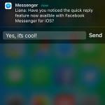 Facebook Messenger For iOS Adds Quick Reply Feature