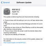 ios 9.0.2 software update log
