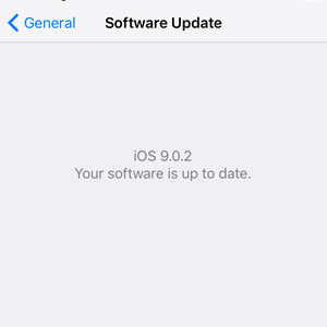 ios 9.0.2 software update