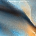 ios 9.1 public beta blue desert wallpaper