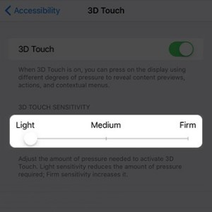 iphone 6s 3d touch sensitivity setting
