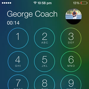 iphone active call keypad screen
