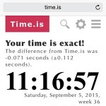 iphone clock accuracy test