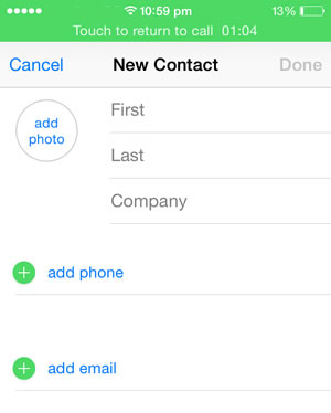 how to get contact number on iphone