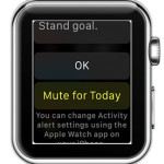 mute apple watch stand reminders for today
