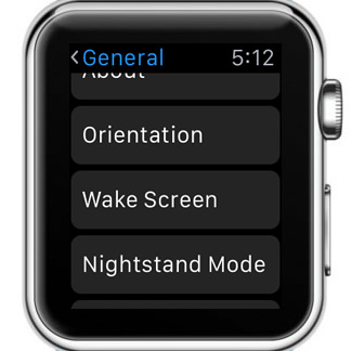 how to get to settings on apple watch