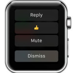 facebook messenger apple watch reply options