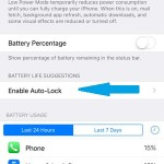 ios 9 enable auto-lock battery setting