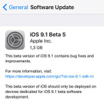 iOS 9.1 Beta 5 Available For Download