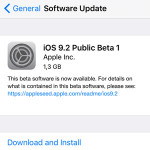 iOS 9.2 Public Beta 1 Available For Download