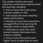 watchos 2.0.1 update log