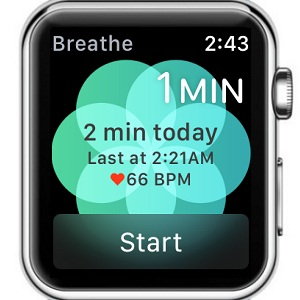 apple watch breathe app home screen