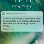 apple watch installation paused