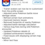 pokemon go 1.1.0 update log