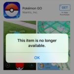 pokemon go app store download error