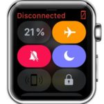 apple watch control center buttons