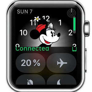apple watch control center in watchOS 3