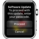 apple watch enter Passcode to proceed with software update