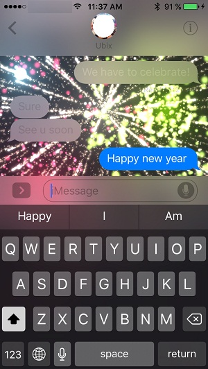 happy new year ios 10 messages animation