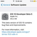 iOS 10 Developer Beta 5 & Public Beta 4 Seeded By Apple
