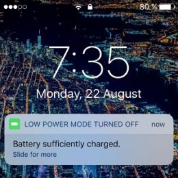 low power mode automatically turned off
