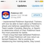 Pokemon GO 1.5.0 Brings Appraisal, Bug Fix And One More Promise